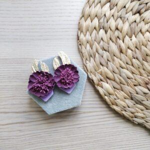 pendientes de flores