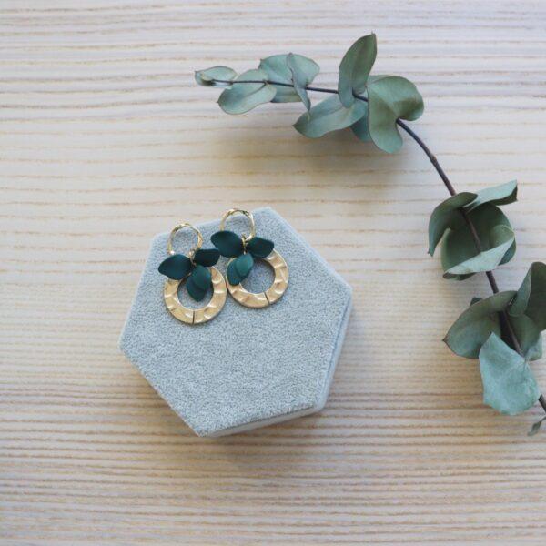 Pendientes bisutería flor