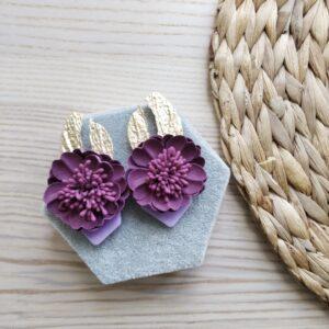 pendientes bisuteria flor