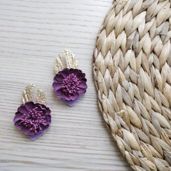 pendientes de flores buganvilla